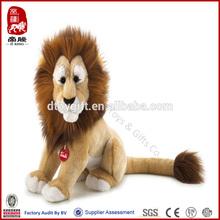 Customized toy wholesale fluffy animal sitting lion toy animal plush