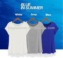Chiffon blouse wholesale blank t-shirts women fashion 2014