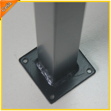 bespoke metal fence steel post with difference surface finish