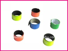 Yiwu United Crafts Reflective safety slap band for wholesale promotional giveways and superstar concert giveways