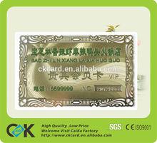 2012 Popular 24K Custom Gold Card For Promotion or Souvenir