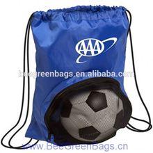 2014 Hot 190T Polyester mesh soccer ball bag sport bag