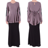 wholesale alibaba OEM china supplier abaya latest design muslim long sleeve design baju kurung modern