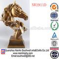 caliente venta de decoración para el hogar artículo personalizado de resina modelo de cabeza de caballo