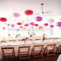 16 pollici 40cm fiore di carta di nozze fai da te decorazioni murali fiori di carta pom pom