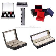 6/10/12 Grid Slots Jewelry Watches Display Storage Box Case Aluminium Square NEW