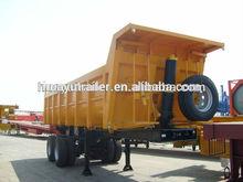 Side / Rear dump semi trailer / dumper semi trailer with 3 axles for Man truck