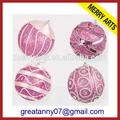 yiwu fabricantes de venta al por mayor de color púrpura de fantasía de navidad adorno colgante bolas de espuma de poliestireno con flores