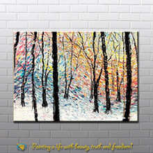 winter landscape canvas oil painting for wall art