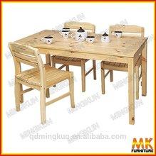 (MK)hot sale heavy-duty wood base dining table