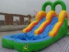 inflatable double lane slip slide, inflatable water slides china, water slide pool
