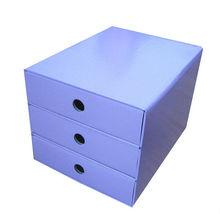 A4 size purple 3 drawer boxes