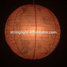 Hot sale 16'' custom printed butterly paper lantern