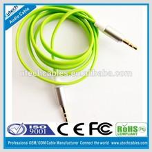 2014 Flat 3.5 mm Jack aux Audio headphone cable