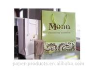 korea brand cosmetics paper packaging bags with custom logo