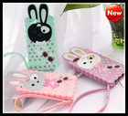 Novelty Cute silicone Bunny rabbit Soft Back Case Cover for iphone