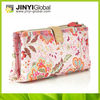 2014 latest Nylon nice cosmetic zip bag with beautiful flower printing cosmetica bag