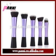Cosmetic distributor 5pcs customized wood handle professional makeup brush brushes set