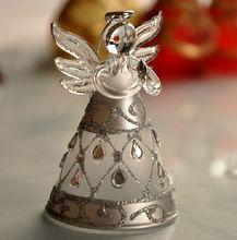 Glass Crafts Inlaid diamonds Silver Glass Angel