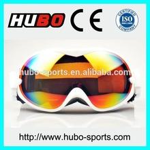 HUBO stylish helmet and ski googles with soft TPU frame goggle