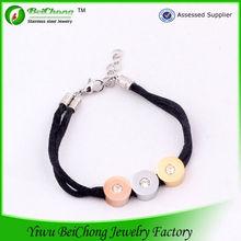 Promotional gift 2014 trends bracelet jewelry 3 tone gay pride bracelet