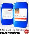 iodo e ácido misturado líquido desinfectante