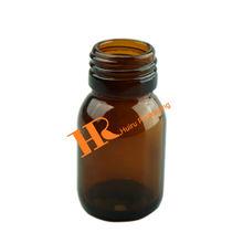 Amber Square Glass Bottle Medical Use Glass Bottle for pills