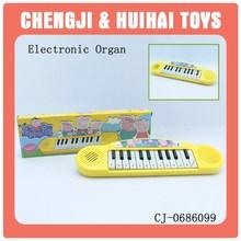 Educational plastic cartoon keyboard toy electron mini piano