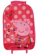 Peppa Pig 'Rocks' School Travel Trolley Roller Wheeled Bag Brand New Gift