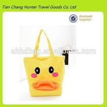 2014 Popular yellow Giant Rubber Duck bag,Canvas shopping bag(HDC170)