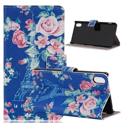 Vintage Tribe Printed Eiffel Tower flower star bow Zoo wallet leather Case Cover For Sony z2 d6503 l50w