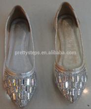 Flat sandals rhinestones ballet flats wholesale Guangzhou Pretty Steps
