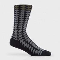 Custom Wholesale Houndstooth Stylish Man's Cotton Custom Logo Socks