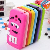 3D Cute Silicone cartoon MM Chocolate Beans Case Cover for Samsung Galaxy s4 mini i9190