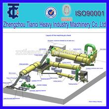 China proveedor de fertilizantes orgánicos de gallinaza/residuos de la agricultura de producción de equipos de la línea