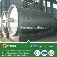 Converting waste fuel oil, rubber tires, plastics to gasoline cracking equipment