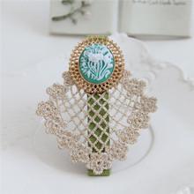 MYLOVE handmade bobby pin flower jeweled barrette MLFJ129