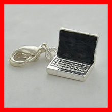 silver alloy laptop charm