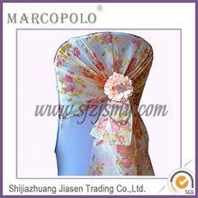 Organza chair sashes for wedding/banquet embroidery organza chair sash/fancy cheap embroidered organza chair sashes