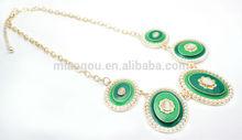 wholesale fashion alloy ladies paint necklace