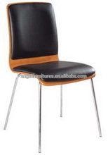 Hi-tech innovative metal leg dining chair