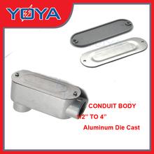 EMT/IMC conduit body, conduit junction box with cover