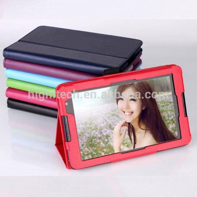 Litch Grain Folio PU Leather Case Cover for Lenovo A5500