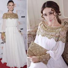 Western girl's bead party elegant bride bride full dress gown