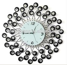 Crystal metal digital clock wall clock(GZH34)