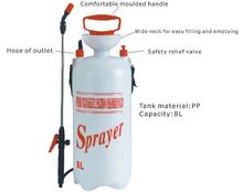 plastic bottles with spray,trigger sprayer,5L garden pressure sprayer with base