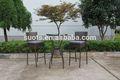 3 pcs jardim ao ar livre mobiliário de jardim Rattan banqueta