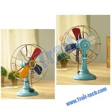 Retro Colorized Fan Handicraft Articles Vintage Fan Props European-style Craft