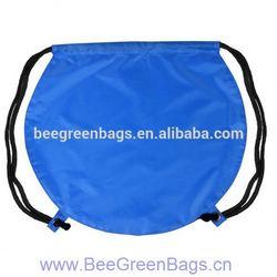 2014 Hot 190T Polyester fold up polyester drawstring bag bag