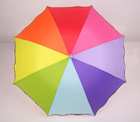 fashion colorful rainbow children umbrella folding for kids